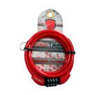 Cadeado Espiral C/ Segredo 6x1,0 m Vermelho - Maxtrava